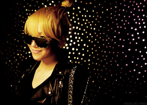Day 21: Your favorite picture of your girl k-pop bias  CL and GD are the best blond Asians, I've decided. CL should just be a blonde forever. I like her smile in this picture. It contrasts against how badass her outfit and sunglasses are haha.