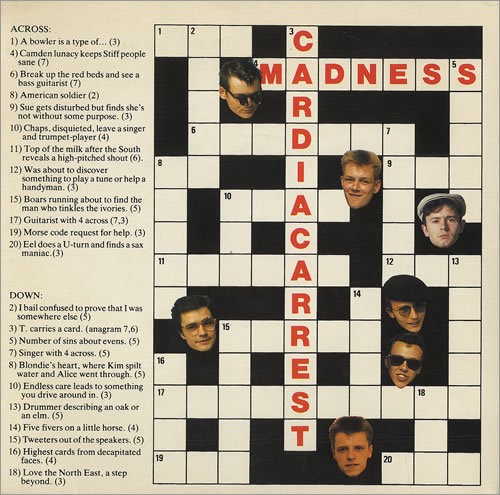 "Madness - Cardiac Arrest ""Don't you worry, there's no hurryIt's a lovely day; could all be going your way!"""