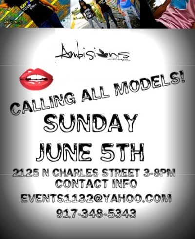 MODEL CALL FOR FASHION SHOW……JUNE 5th