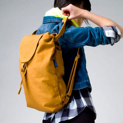 (via FFFFOUND! | Baggu > Canvas Backpack Nutmeg at New High (M)art)