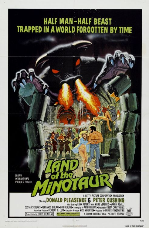 One sheet for The Land Of The Minotaur (1976)