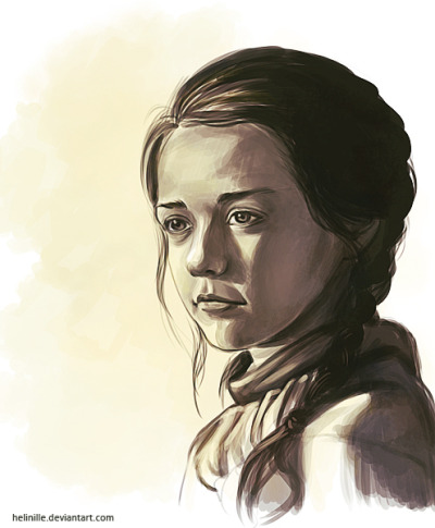 yolandablazquez:  Sketch of Arya (Game of Thrones) I've just finished  Love this little girl! <3