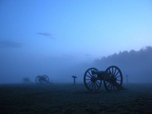 Manassas National Battlefield: Cannon in the Mist Taken by employee of the Manassas National Battlefield, Brad Waldron.