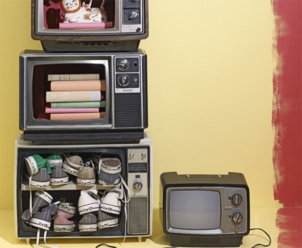 Other than a fish tank … old box tvs can be functional again.  Via: Recyclart.
