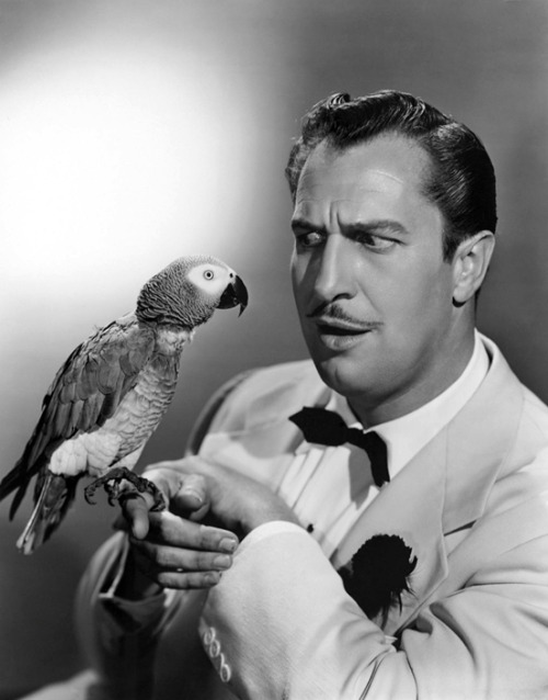 blueruins:  Classic Movie Monsters: Vincent Price and friend.