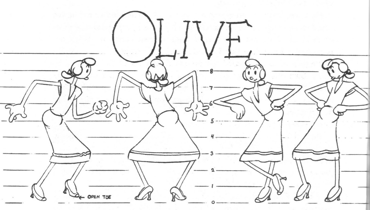 "mudwerks:  (via Cartoons, Model Sheets, & Stuff: Famous Era Popeye Model Sheets)  ""Here's a few Popeye model sheets from the Famous studio days. I really like the Famous Popeye's made in the 40's but the series definitely ran out of gas in the 50s…"""