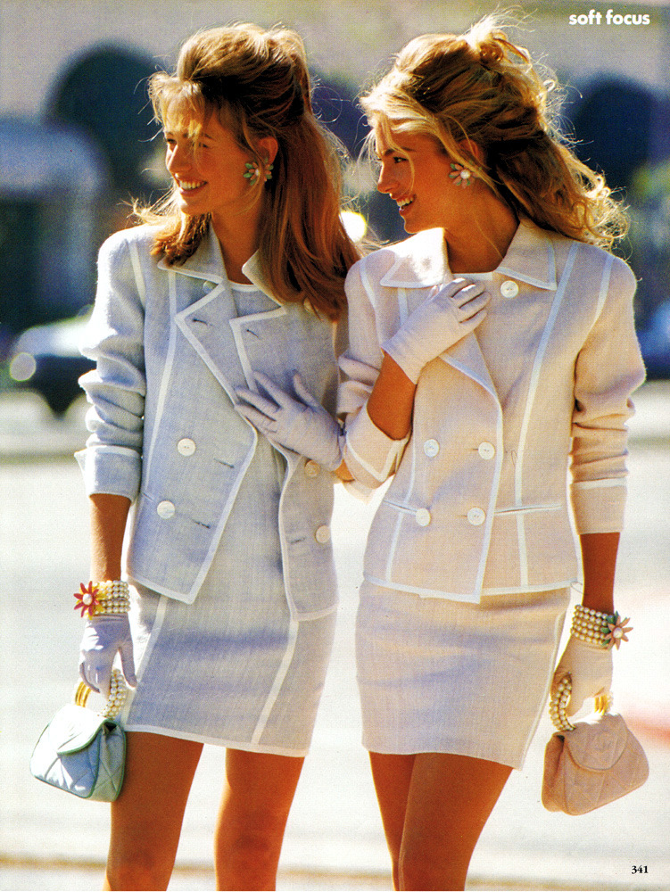 Karen Mulder and Elaine Irwin Mellencamp Soft Focus Patrick Demarchelier Vogue US February 1991