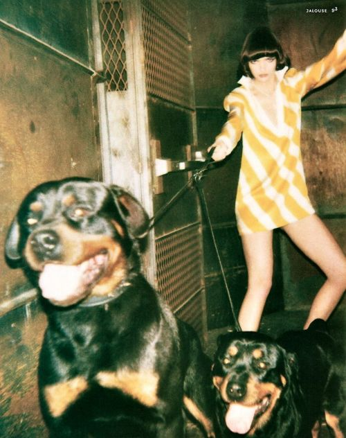 "niteostyle:  Jalouse US July 2001 ""Diamond Dogs"" by Warwick Saint with Mariacarla Boscono"