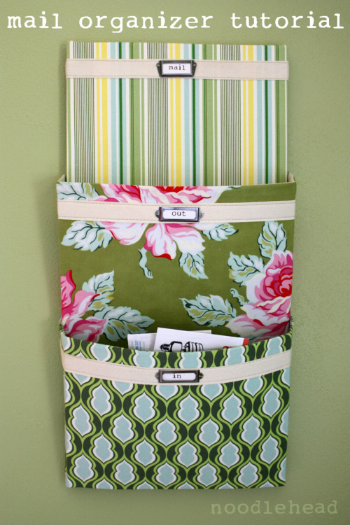 Cute DIY Mail Organizer (by noodle-head).