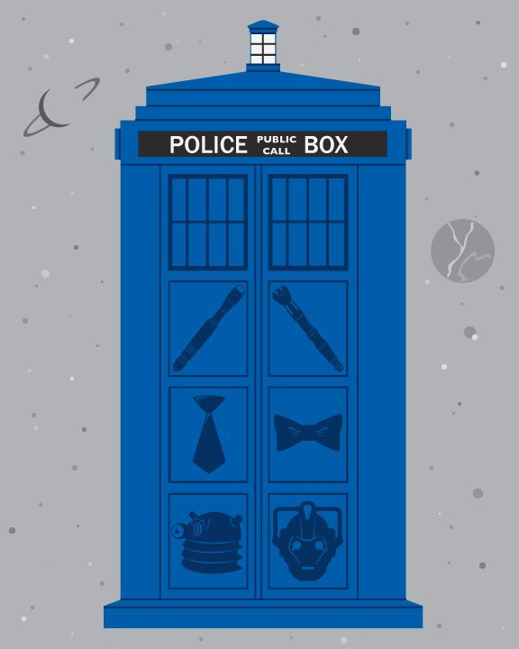 The TARDIS got a little drunk one night and went for those tattoos she always wanted.  My talented friend Ashley Hay designed this. You can find her at her portfolio site or on Tumblr. She makes awesome stuff.
