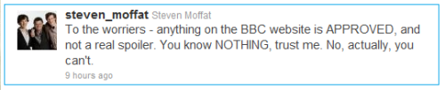 music0is0art:  Moffat you troll. lol