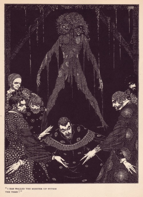 wastrelle:  illustrated by Harry Clarke, from Tales of Mystery and Imagination