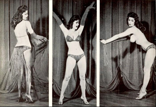 Miss Beverly Hills burlesque dancer 1960's
