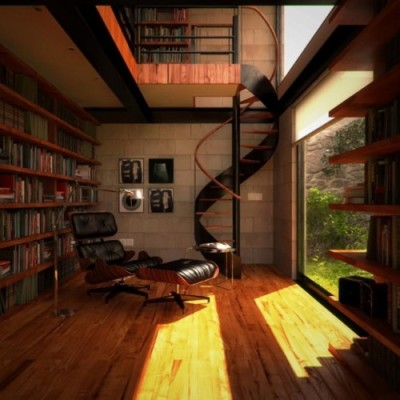 I will have a study/library in my home.