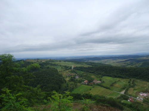 The view from atop Magura in Moigrad, Romania. Photo by me! 2010!