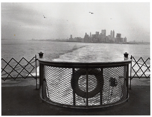 snowce:  Hideaki Sato, Lower Manhattan from the Staten Island ferry, New York City, September 1968