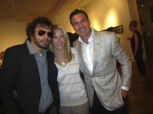"Olivier Zahn, Andre Balazs and Chelsea Handler at Olivier's opening of ""The Secrets Of Photographing Women"" at LEADAPRON this evening.  Photo by Brad Elterman"