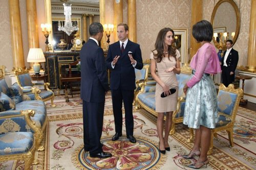 """obamaspants:  Everyone looks great, but compare Obama's Pants to Prince Harry's. Distracting.  From the important new Tumblr """"Obama's Pants Are Too Long."""" I have to say that that was the first thing I thought when I saw these photos. It's too bad, because Obama really does pretty well for a president, otherwise. (That's Prince William, not Prince Harry, by the way.)"""