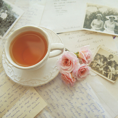 Tea, roses and memories…. (by ImagesByClaire)