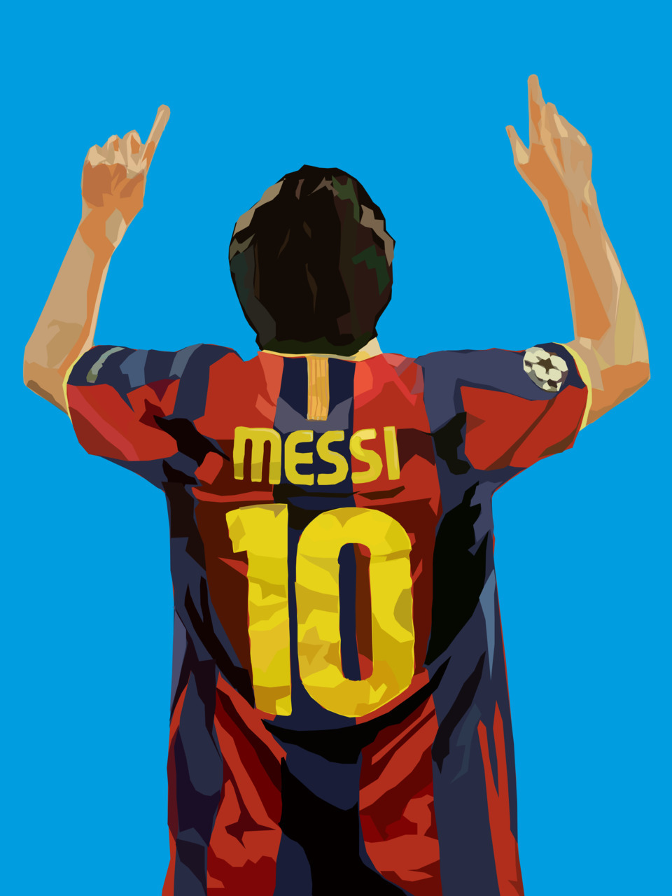 Messi in Vector