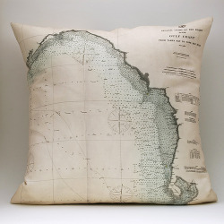 urbancartography:  Gulf Coast FL chart pillow