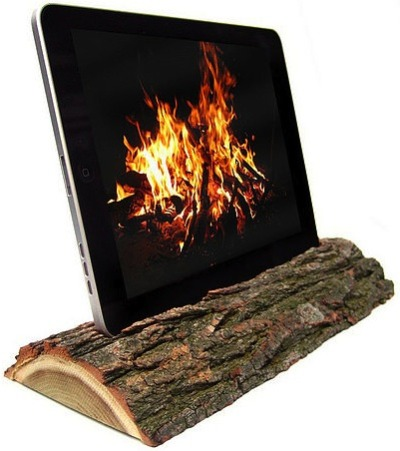 iPad Dock That Looks Like A Log Note: Previously.