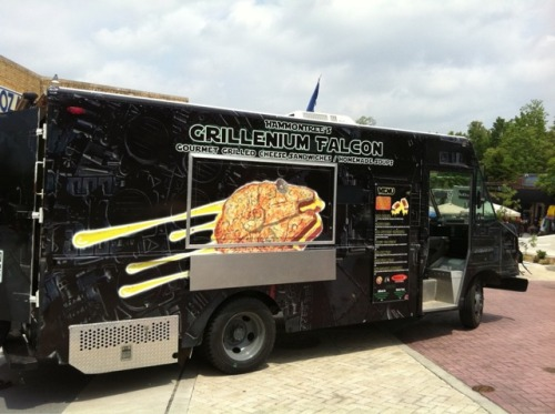 laughingsquid:  The Grillenium Falcon, A Gourmet Grilled Cheese Food Truck