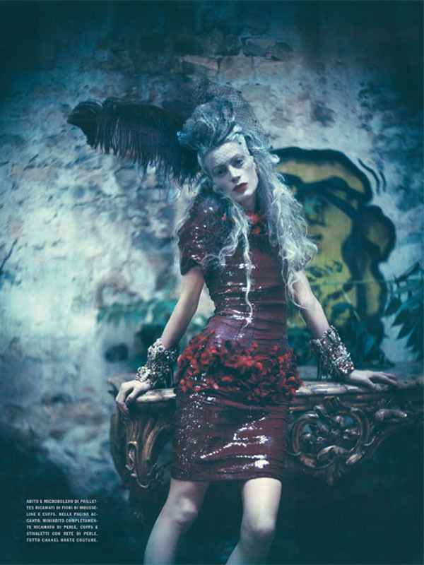 Kristen McMenamy photographed by Paolo Roversi - Vogue Italia: October 2010 - The Grand Couture