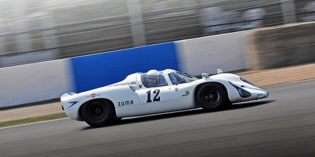 Rainer Becker & David Clark - 1967 Porsche Carrera 910 Spyder Coupe No.12 - 2011 Donington Historic Festival by rookdave on Flickr.1967 Porsche Carrera 910 Spyder