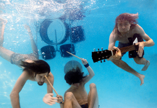 "xdy:  gq:  The Oral History Of Nirvana's Nevermind (A Brief Tease, Anyway) Possibly our favorite thing in the new June 2011 issue of GQ is the oral history of the making of Nirvana's Nevermind, by Nate Penn and a fleet of reporters, who interviewed dozens of people (including Courtney Love, Dave Grohl, Krist Novoselic, Kim Gordon, Chris Cornell, and more) ahead of the album's 20th anniversary to assemble the definitive history of its recording. The oral history is only available in the print edition and our new iPad version, but over at GQ.com we've assembled a slideshow of amazing photography of the band circa 1991. And below, here are a couple choice quotes from the oral history:  ""About a week before I went to L.A. to begin recording Nevermind, I got a  cassette in the mail. The first thing on the cassette was ""Hey, Butch!""  It was Kurt speaking on a boom box: ""We got a new drummer, his name's  Dave Grohl, he's the best drummer in the world!""—Butch Vig, producer, Nevermind ""Kurt was a leader, he was strong, in fact he was well fucking hung, if  you really want to know.""—Courtney Love, singer, Hole; widow of Kurt  Cobain   Reblogging 'coz of the pic."