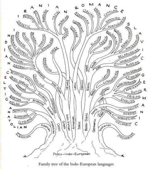 (via An interesting diagram showing the family tree of… - Maths, Space, Computational Linguistics etc.)