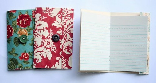 These are the cutest and easiest DIY Journal/Notebooks I've found. I love the floral! (by thecreativeplace).