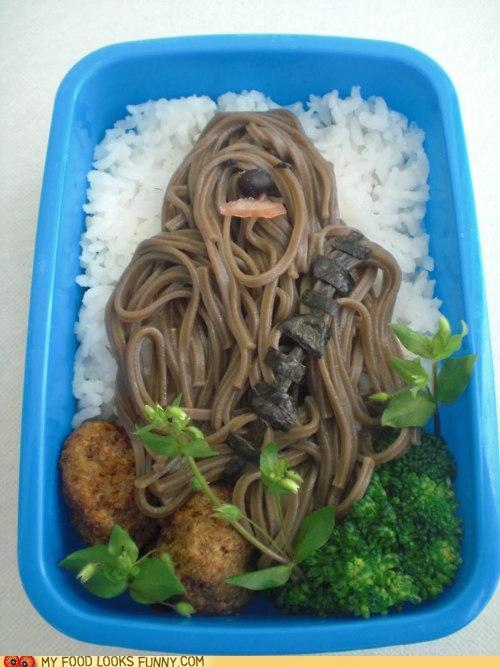 Awesome Chewbacca Noodles! Nice, but I'll pass. via My Food Looks Funny