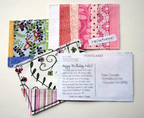 These Fabric Postcards (by thecreativeplace) are definitely in my top 5 favorite DIY's I've posted. So cute!