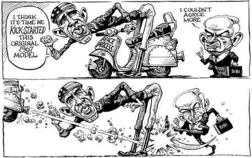 KAL's cartoon: this week, the peace process