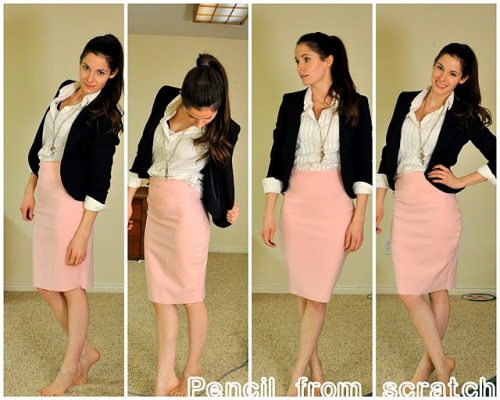 "I am in love with this DIY Patternless Pencil Skirt (by cottonandcurls). This has been moved to the very top of my ""to-do list"""