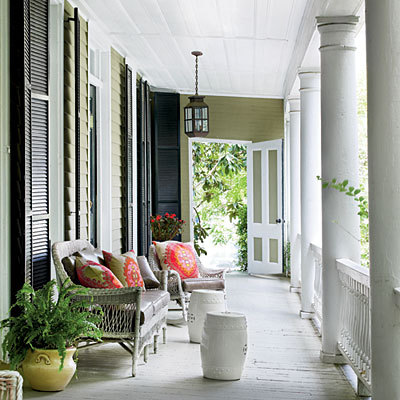 Classic Charleston Porch {via southernliving}