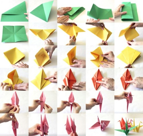 I love making paper cranes. I've got them all over my bedroom!