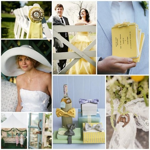 Southern Seersucker wedding inspiration board {via postcardsandpretties}