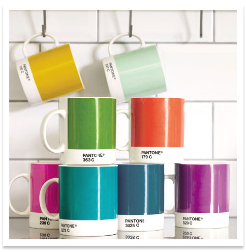 How much do you love these! I posted Pantone mugs last November but I couldn't resist to post them again! The aqua is my favorite.