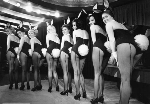 froufroufashionista:  Playboy bunnies of yesteryear.  Loving the puffy bunny tail!  HAPPY EASTER GUYS!