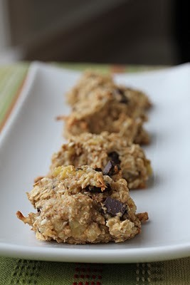 Lightly Sweet Banana Coconut Chocolate Chip Cakies - haaaave to try these!