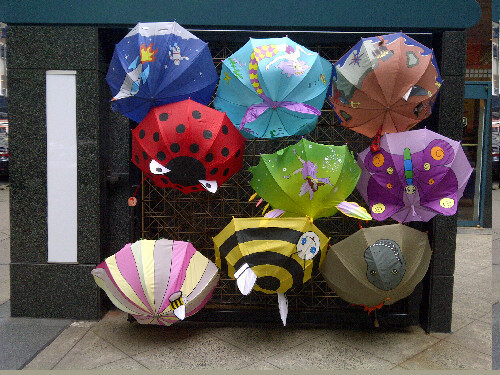 Umbrellas on 43rd St.