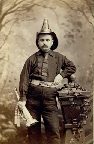 1890 John Lesh, member of Minneapolis Volunteer Fire Company #1. (via John McNab)