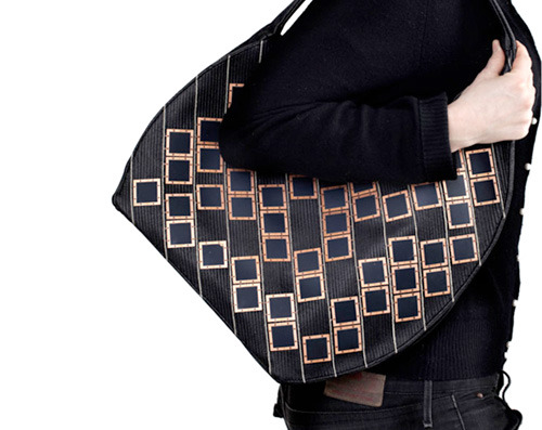 Brilliant idea: solar panel purse