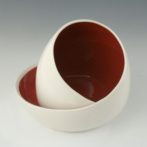 Kim Westad: Egg Chair Vessel with Red Interior
