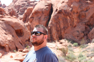 thebearsupthere:  Me @ Valley of Fire on Flickr. reblogging because I look handsomely handsome in this photo -chester  handsomely handsome chester is handsomely handsome