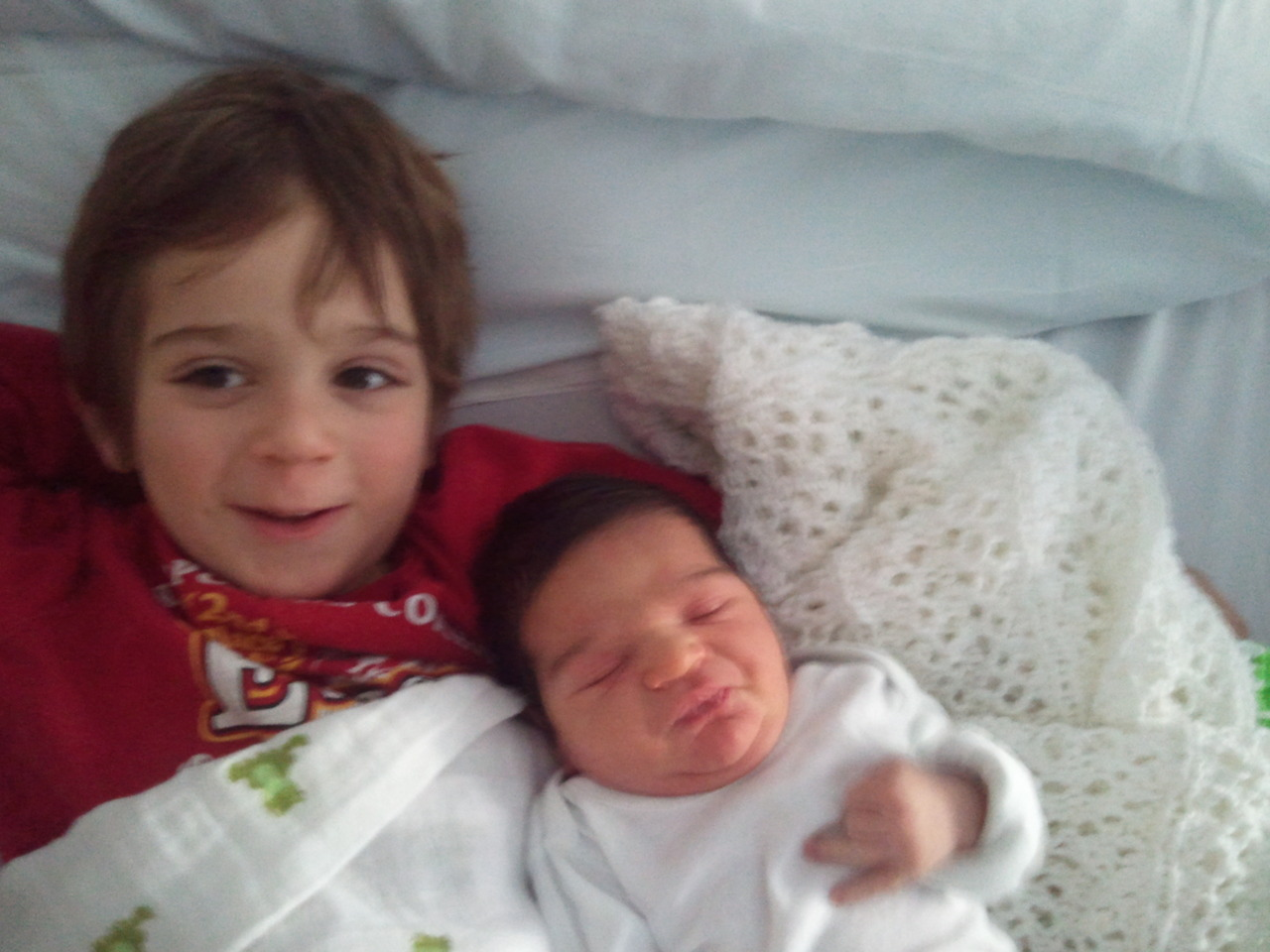 "Luca and Alessandro… new brothers unite in comfortable solidarity.  There are no words to describe my joy at seeing my 2 boys together for the first time.  As an only child I am finally a part of that larger family unit.  Luca asked me, ""are were a family now""?  What a thought… but I understood him because as an only child, that is how I always felt. I said, ""we were a family before, but now we are just a bigger one""."