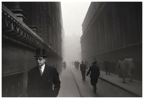 London, England1951 Photograph by Robert Frank   (born November 9, 1924, Zürich, Switzerland) one of the most influential photographers of the mid-20th century, noted for ironic renderings of American life.  Frank became a professional industrial photographer at the age of 22 and in the 1940s became a successful fashion photographer for Harper's Bazaar magazine in Paris. He felt, however, that the scope of the work was too limited. He abandoned fashion photography about 1948 and went to the United States and then to Peru to explore the expressive possibilities of the 35-mm camera.