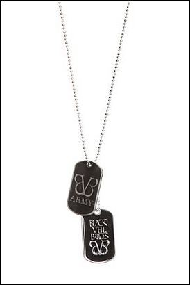 BVB Army dog tag necklace now at Hot Topic! Click here to be directed to the Hot Topic online store to check out those amazing dog tags. All BVB members wear them and you should, too. :) BVB Army Team